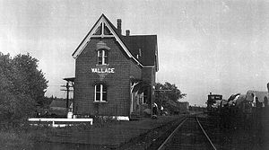 Wallace, Nova Scotia - Train station in Wallace, late 1800s
