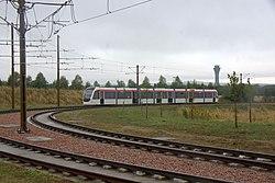 Tram between Ingliston and Edinburgh Airport stops (geograph 4123642).jpg