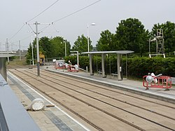 Tram stop for the Gyle Centre (geograph 3505871).jpg