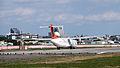 Transasia Airways ATR 72-212A B-22807 Taking off from Taipei Songshan Airport 20150103.jpg