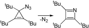 Bildung von Tri-tert-butylazet aus Tri-tert-butylcyclopropylenazid