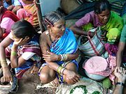 Tribal Woman at Weekly Village Market