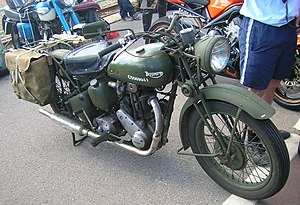 The English Patient (film) - Triumph 3HW 350cc motorcycle specified in the novel as Kip's choice of transport and used in the film