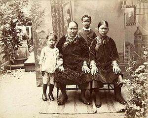 Chinese Surinamese - Southern Chinese migrant family