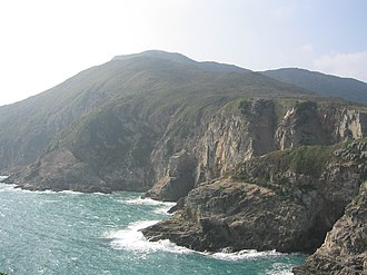 Tung Lung Chau - The cliffs on the east coast of Tung Lung Chau.