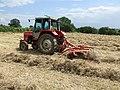 Turning the hay at Glebe Farm near Spilsby 2 - geograph.org.uk - 473084.jpg