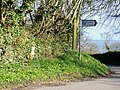 Turning to Amroth Church with water hydrant sign - geograph.org.uk - 1240003.jpg