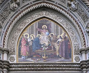 Nicolò Barabino - Mosaic Central Tympanum of Cathedral of Florence