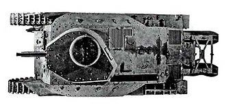 Type 89 I-Go medium tank - Top view of Type 89B I-Go Otsu