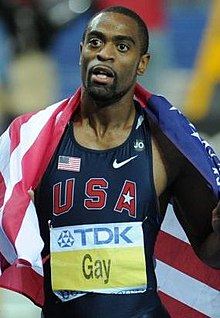 The 35-year old son of father Greg Mitchell and mother Daisy Gay, 180 cm tall Tyson Gay in 2018 photo