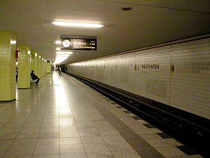 Berlin Westhafen station - Westhafen U-Bahn station