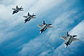 U.S. Air Force F-35A Lightning II aircraft assigned to the 58th Fighter Squadron, 33rd Fighter Wing fly in formation over the northwest coast of Florida May 16, 2013 130516-F-XL333-620.jpg