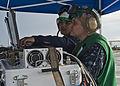U.S. Navy Aviation Electronics Technician 2nd Class Max Stachowski and Aviation Electronics Technician 3rd Class Wade Henderson, both assigned to the targets detachment at Fleet Activities Okinawa, Japan, work 130525-N-IY633-109.jpg