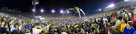 The U2 360° Tour stage surrounded by the crowd