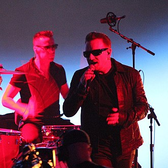 Songs of Innocence (U2 album) - U2 performing at the Apple product launch at which the album was announced on 9 September 2014