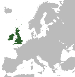 Location of England