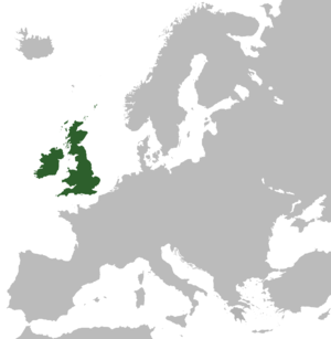 A map highlighting the (former) United Kingdom...
