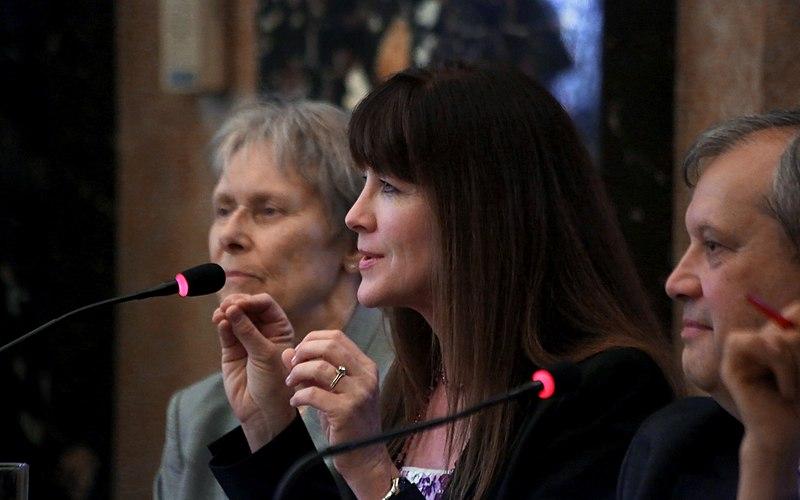 File:UNOOSA 50 Years of Women in Space NHM Vienna 2013 06 Janet L Kavandi.jpg
