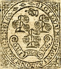 Connecticut colonial seal detail (1775)