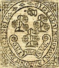 Connecticut kolonyal conta detayı (1775)