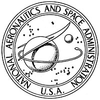 NASA seal, black and white