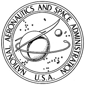 NASA insignia - NASA seal, black and white
