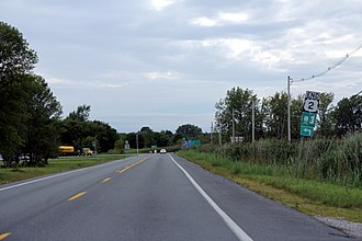 U.S. Route 2 - The west terminus of the east section in eastern New York.