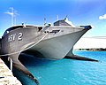 USN High speed vessel Swift (HSV 2) in Bridgetown - Bow.jpg
