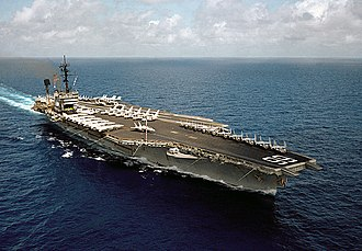 USS America (CV-66) - Image: USS America (CV 66) underway in the Indian Ocean on 24 April 1983