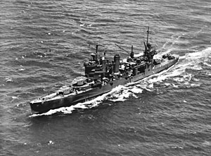 USS Astoria (CA-34) operating in Hawaiian waters on 8 July 1942 (NH 97682).jpg