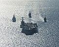 USS Carl Vinson (CVN-70) underway in the Arabian Gulf with HMS Defender (D36), USS Bunker Hill (CG-52) and Jean Bart (D615), 9 November 2014 (141109-N-OO356-034).jpg