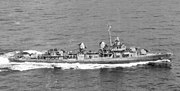 USS Cogswell (DD-651) underway in 1945