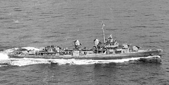 Alan Shepard - Image: USS Cogswell (DD 651) underway in 1945