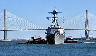 Joint Base Charleston - Image: USS Faragut DDG 99 Charleston Harbor Mar 2011