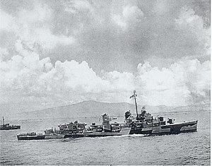 USS Norman Scott (DD-690) off Saipan in June 1944 (80-G-244406)