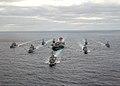 US Navy 031130-N-3653A-002 USS George Washington (CVN 73) Carrier Strike Group formation sails in the Atlantic Ocean.jpg
