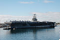 US Navy 041122-N-8157C-116 USS Abraham Lincoln (CVN 72) and Carrier Air Wing Two (CVW-2) arrive in Pearl Harbor, Hawaii for a scheduled port visit during a deployed to the Western Pacific Ocean.jpg