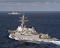 US Navy 050715-N-8163B-016 The guided missile destroyer USS Donald Cook (DDG 75) conducts a close quarters exercise while underway in the Atlantic Ocean.jpg