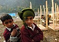 US Navy 051111-N-1261P-029 Children living at the Thuri Park Tent Village are living in donated tents in Muzaffarabad, Pakistan.jpg