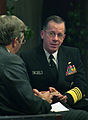 US Navy 060424-N-2383B-082 Chief of Naval Operations (CNO) Adm. Mike Mullen talks with Government Executive Magazine Editor Tim Clark, during a leadership breakfast at the National Press Club.jpg