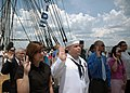 US Navy 070704-N-2893B-002 Personnelman 2nd Class Jorge Fernandez is among 10 new American citizens sworn in during a naturalization ceremony aboard USS Constitution on her Independence Day underway demonstration.jpg