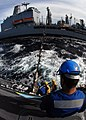 US Navy 080126-N-7981E-738 Sailors aboard the guided missile destroyer USS Momsen (DDG 92) secure refueling lines during a refueling at sea between Momsen and the Military Sealift Command Auxiliary Oiler USNS Guadalupe (T-AO 20.jpg