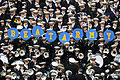 US Navy 081206-N-8492C-261 U.S. Naval Academy midshipmen cheer the U.S. Naval Academy Midshipmen during the 109th Army-Navy college football game at Lincoln Financial Field in Philadelphia.jpg