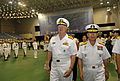 US Navy 090707-N-8273J-067 Chief of Naval Operations (CNO) Adm. Gary Roughead participates in an official honors ceremony and is escorted by Adm. Jung, Ok-Keun, Chief of Naval Operations of the Republic of Korea Navy.jpg