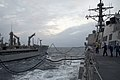 US Navy 091030-N-9123L-015 Sailors aboard guided-missile destroyer USS McCampbell (DDG 85) conduct an underway replenishment with the Military Sealift Command fleet replenishment oiler USNS John Ericsson (T-AO 194).jpg