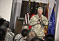 US Navy 100107-N-8273J-228 Chief of Naval Operations (CNO) Adm. Gary Roughead speaks with and answers questions from International Security Assistance Force (ISAF) Sailors while visiting Camp Eggers in Kabul, Afghanistan.jpg