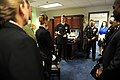 US Navy 110125-N-0555B-027 Vice Adm. Dirk J. Debbink, Chief of Navy Reserve, speaks with the 2010 Navy Recruiters of the Year during their tour thr.jpg