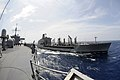 US Navy 110315-N-3185H-405 The Military Sealift Command fleet replenishment oiler USNS Pecos (T-AO 197) pulls alongside the U.S. 7th Fleet command.jpg