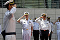 US Navy 110412-N-ZB612-024 Chief of Naval Operations (CNO) Adm. Gary Roughead renders honors at a welcoming ceremony during his visit to meet with.jpg