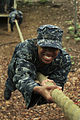US Navy 110517-N-KE582-004 A U.S. Naval Academy plebe navigates an obstacle course during Sea Trials, the capstone training exercise for Naval Acad.jpg